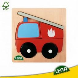 Fa puzzle - Tűzoltóautó