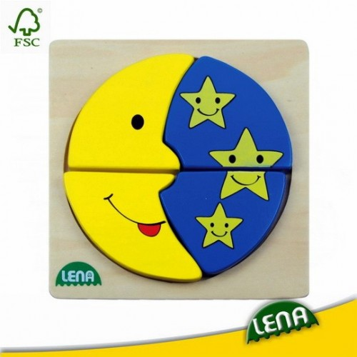 Fa puzzle - Hold és csillagok