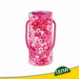 Gyöngyfűző palack - Pink kreatív szett