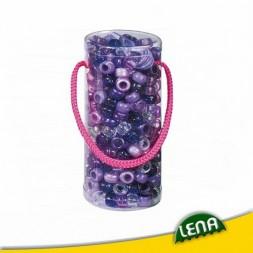 Gyöngyfűző palack - Lila kreatív szett