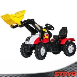 Steyr pedálos traktor markolóval, CVT 6225