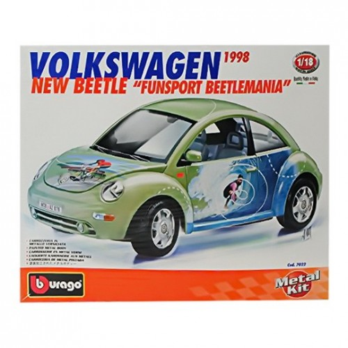 Volkswagen New Beetle, Burago 1/18 metal kit modell
