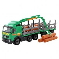 VOLVO Farönkszállító játék teherautó pótkocsival