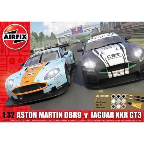 1/32 Aston Martin és Jaguar autó makett
