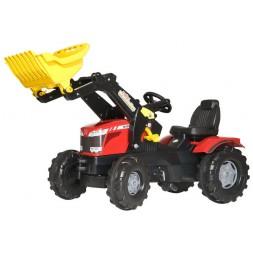 Massey-Ferguson pedálos traktor markolóval