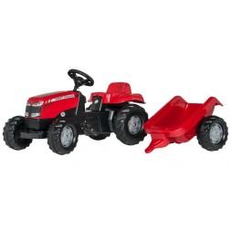 Massey-Ferguson pedálos traktor utánfutóval