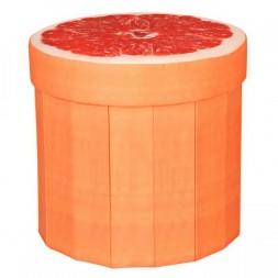 Tárolós összecsukható ülőke, narancs mintával