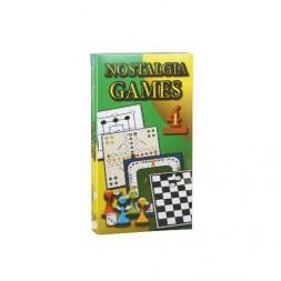 Nosztalgia Games Társasjáték, 4 in 1