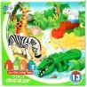 13 darabos Mini Állatkert építőjáték