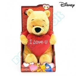 """Micimackó 25 cm-es """"I Love U"""" plüss, Walt Disney"""