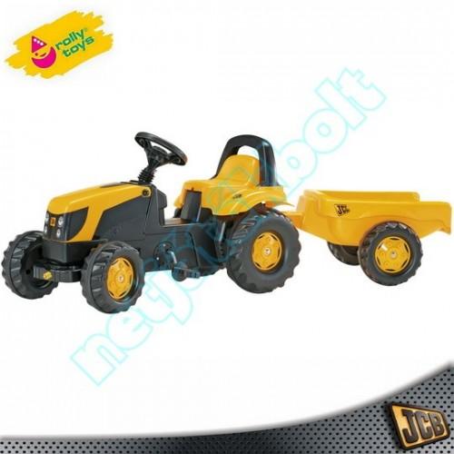 Pedálos traktor utánfutóval, RollyToys-JCB