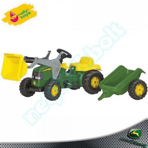 John Deere markolós-utánfutós traktor