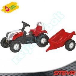 Pedálos traktor utánfutóval, RollyToys-Steyr